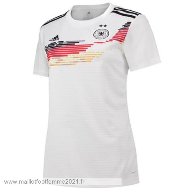 Domicile Maillot Femme Alemania 2019 Blanc Tee Shirt Foot