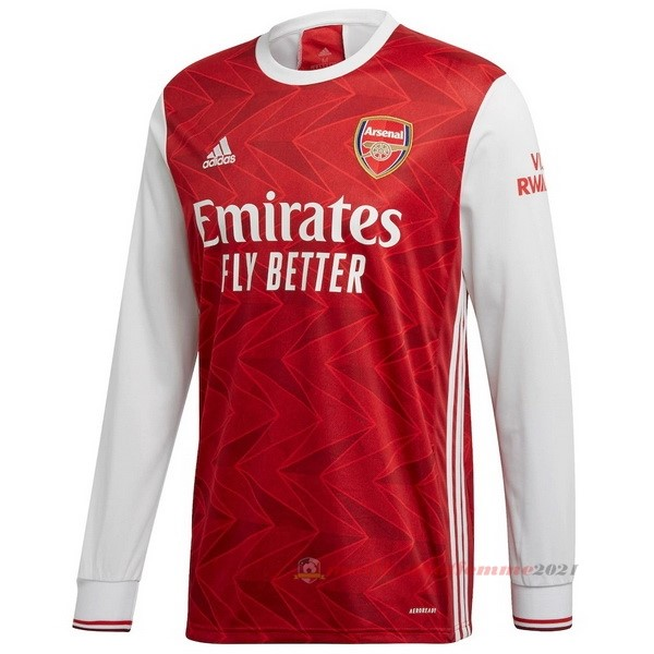 Domicile Manches Longues Arsenal 2020 2021 Rouge Tee Shirt Foot