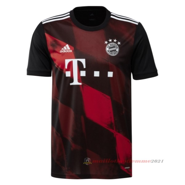 Third Maillot Bayern Múnich 2020 2021 Rouge Tee Shirt Foot