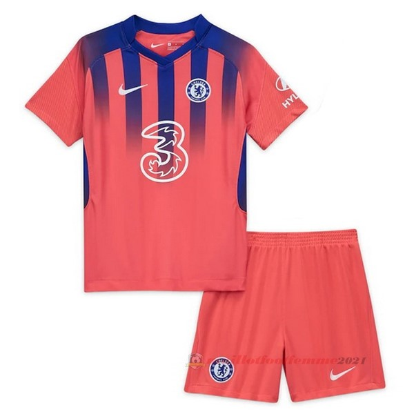 Third Conjunto De Enfant Chelsea 2020 2021 Orange Tee Shirt Foot