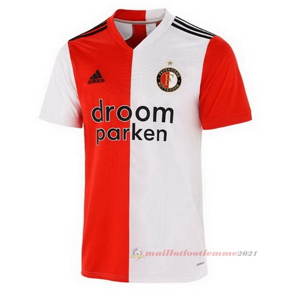 Domicile Maillot Feyenoord Rotterdam 2020 2021 Rouge Tee Shirt Foot