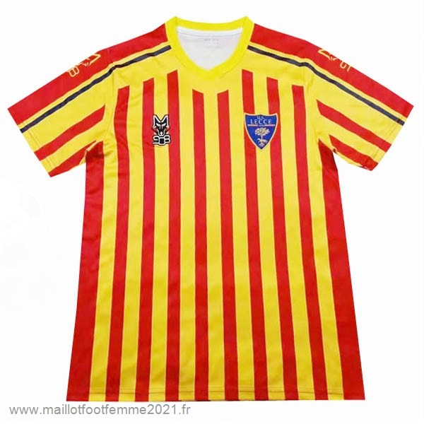 Domicile Maillot Lecce 2019 2020 Rouge Jaune Tee Shirt Foot