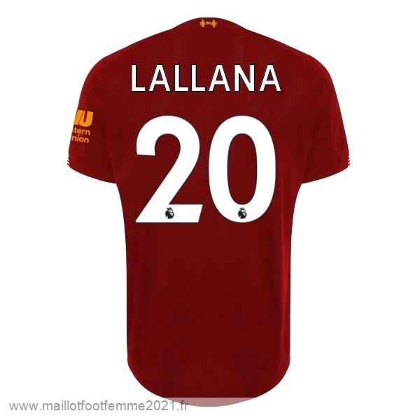 NO.20 Lallana Domicile Maillot Liverpool 2019 2020 Rouge Tee Shirt Foot