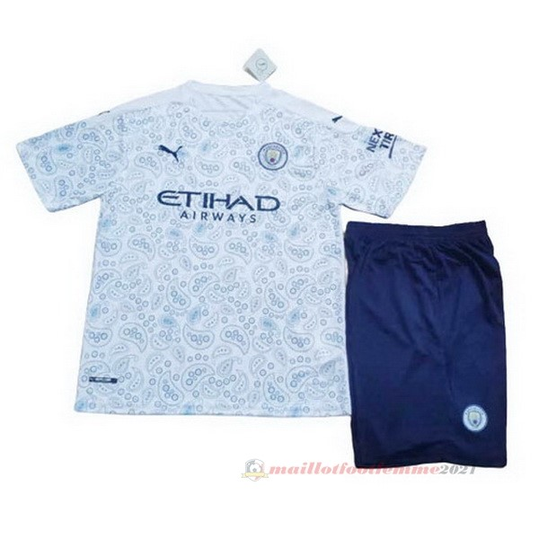 Third Conjunto De Enfant Manchester City 2020 2021 Bleu Tee Shirt Foot