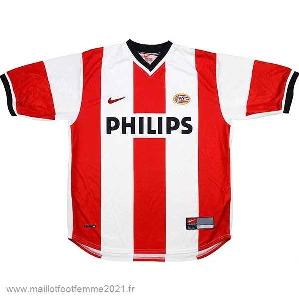 Domicile Maillot PSV Retro 1998 2000 Rouge Blanc Tee Shirt Foot