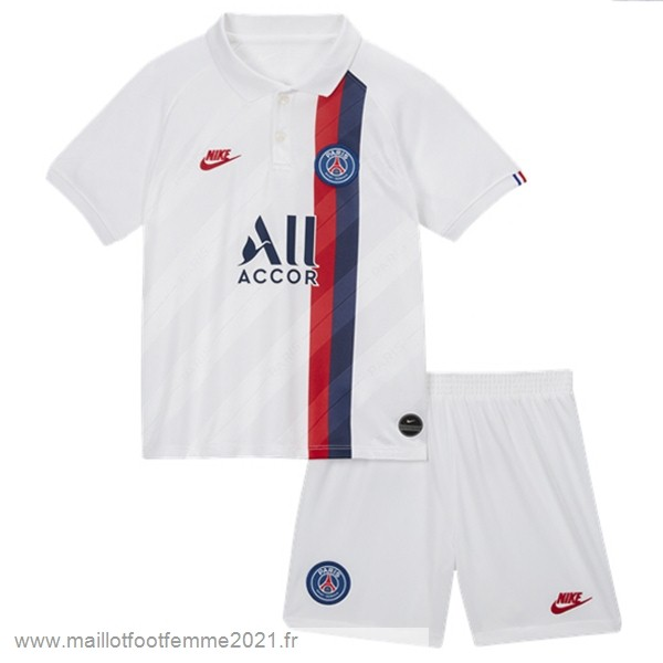 Third Conjunto De Enfant Paris Saint Germain 2019 2020 Blanc Tee Shirt Foot