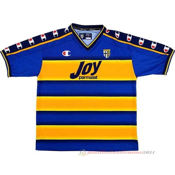 Casa Camiseta Parma Retro 2001 2002 Jaune Tee Shirt Foot