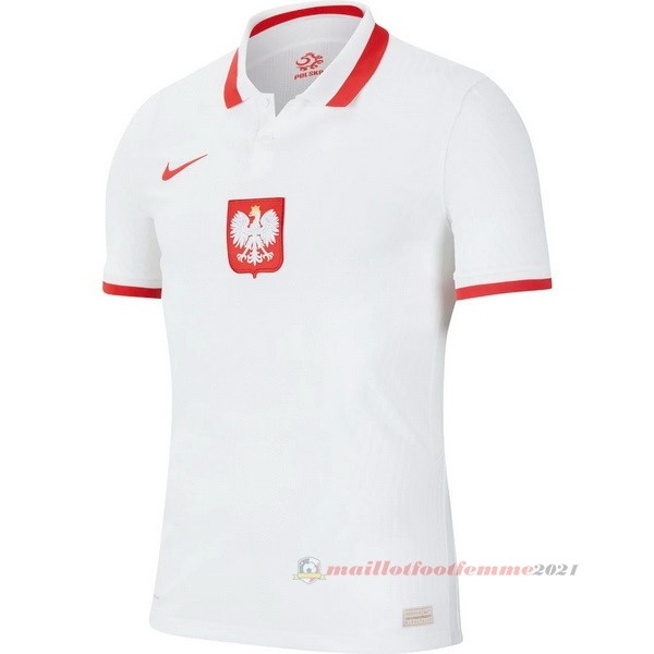 Domicile Maillot Pologne 2020 Blanc Tee Shirt Foot