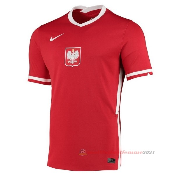 Exterieur Maillot Pologne 2020 Rouge Tee Shirt Foot