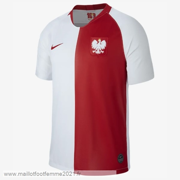 Maillot Polonia 100th Blanc Rouge Tee Shirt Foot