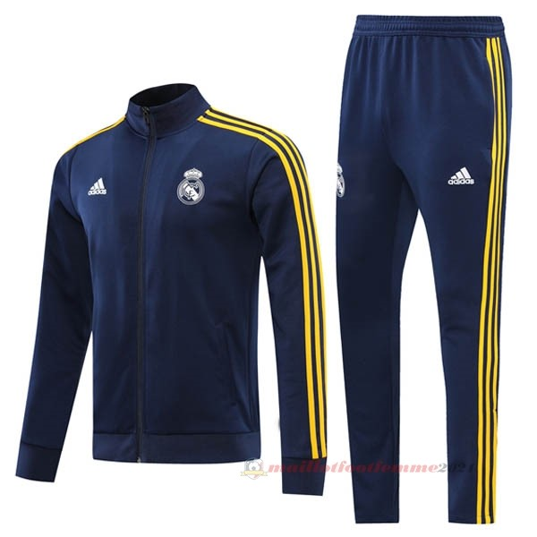 Survêtements Real Madrid 2021 2022 Bleu Jaune Tee Shirt Foot
