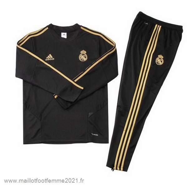 Survêtements Real Madrid 2019 2020 Noir Or Tee Shirt Foot