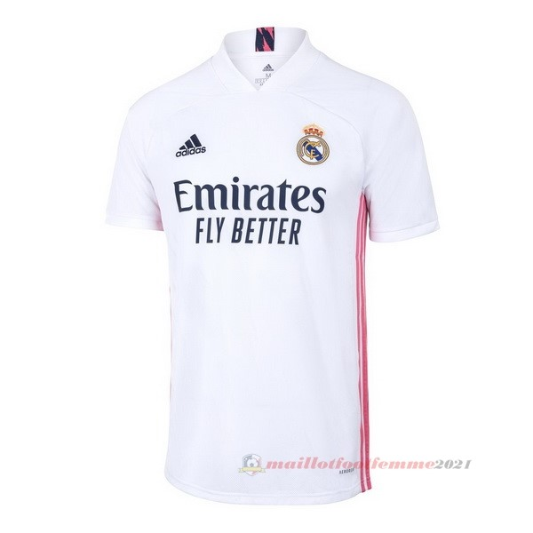 Domicile Maillot Real Madrid 2020 2021 Blanc Tee Shirt Foot