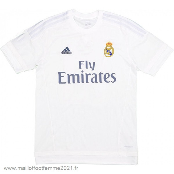 Domicile Maillot Real Madrid Rétro 2015 2016 Blanc Tee Shirt Foot