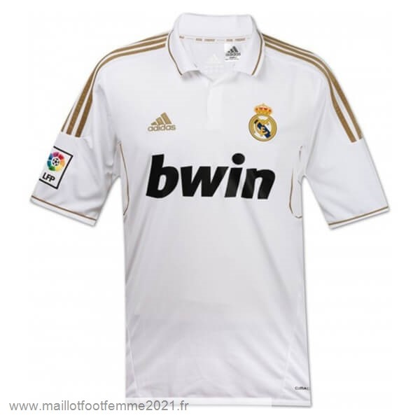 Domicile Maillot Real Madrid Rétro 2011 2012 Blanc Tee Shirt Foot