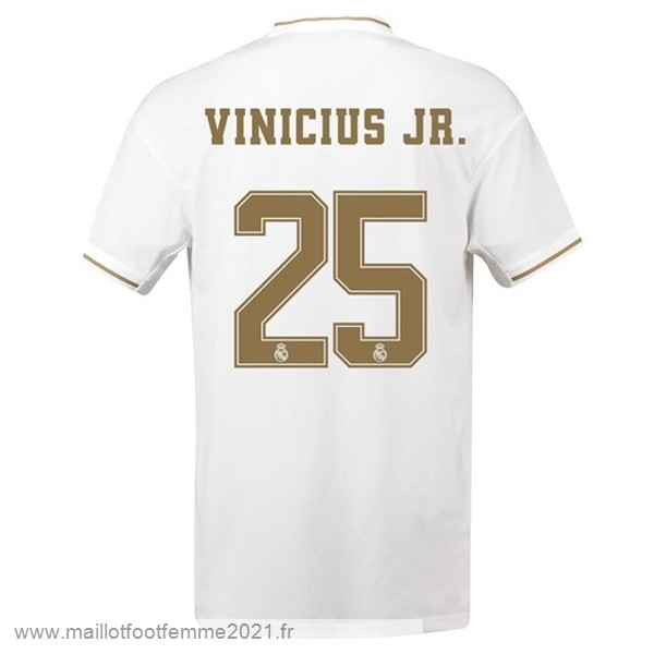 NO.25 Vinicius JR. Domicile Maillot Real Madrid 2019 2020 Blanc Tee Shirt Foot