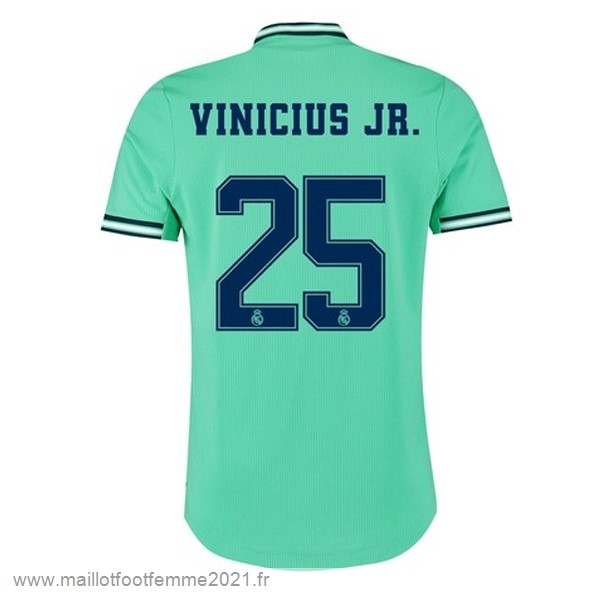 NO.25 Vinicius JR. Third Maillot Real Madrid 2019 2020 Vert Tee Shirt Foot