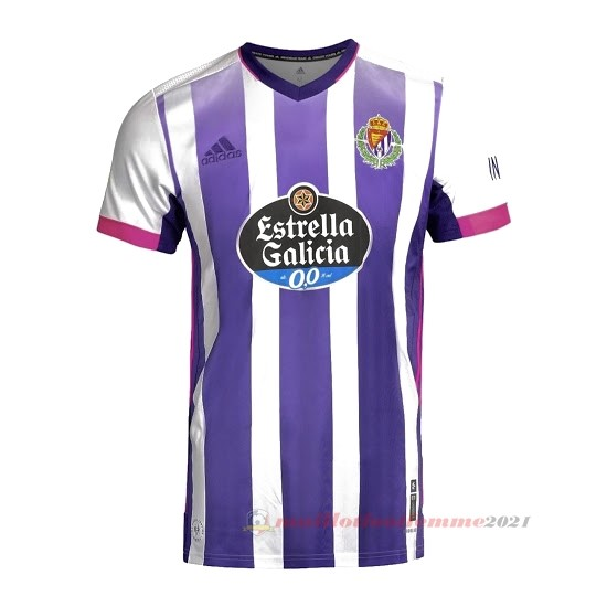 Domicile Maillot Real Valladolid 2020 2021 Blanc Purpura Tee Shirt Foot