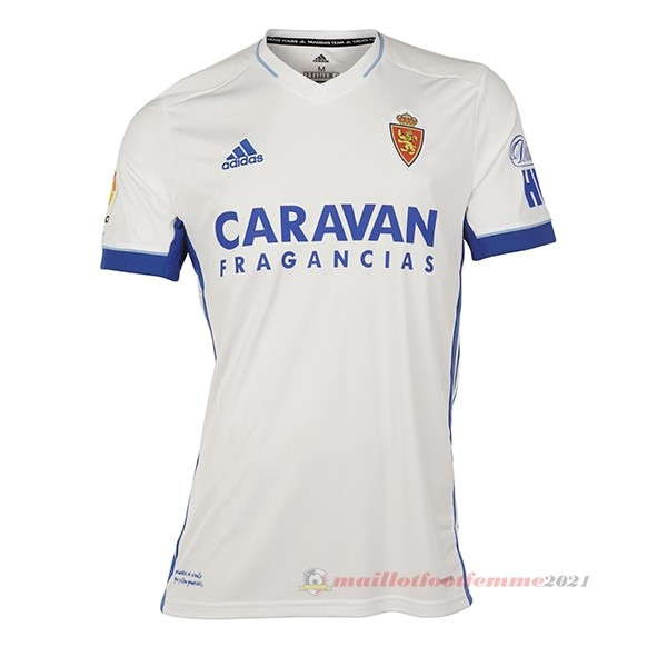 Domicile Maillot Real Zaragoza 2020 2021 Blanc Tee Shirt Foot