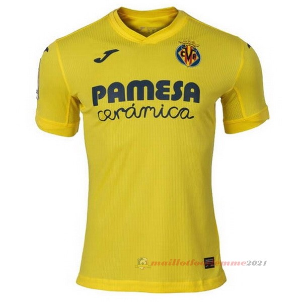 Domicile Maillot Villarreal 2020 2021 Jaune Tee Shirt Foot